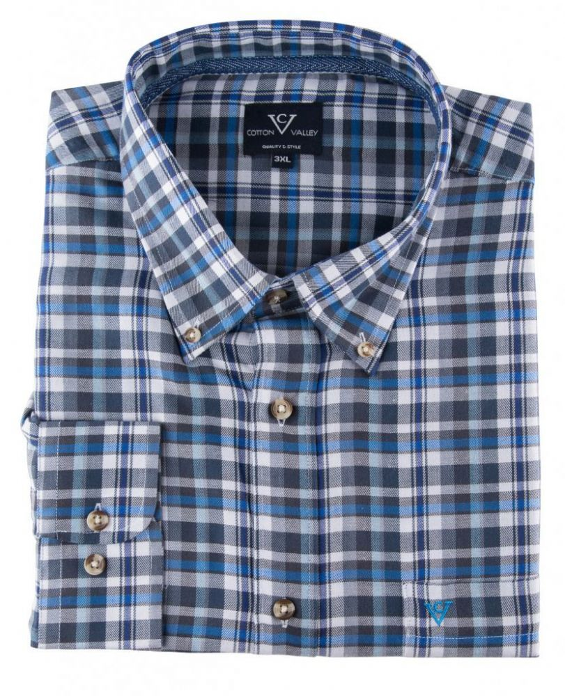 Cotton Valley Long Sleeve 'Edward' Check Shirt